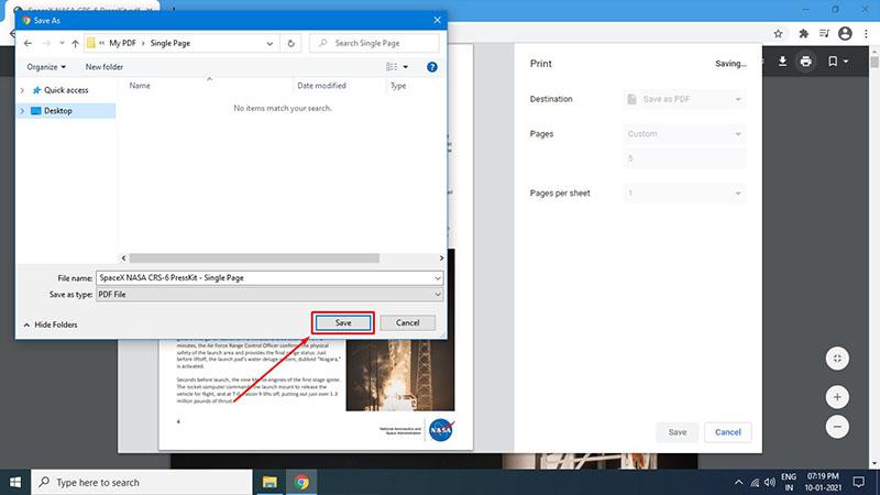 Save a Single Page of a PDF Using Google Chrome