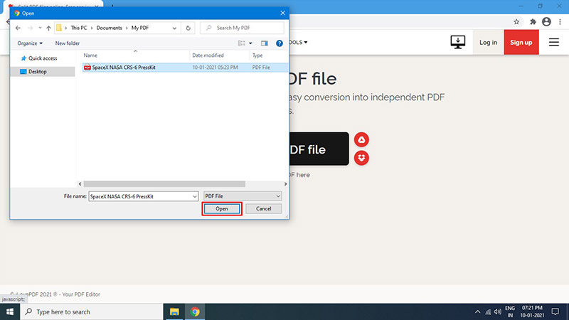 Save a Single Page of a PDF Using Online Tool