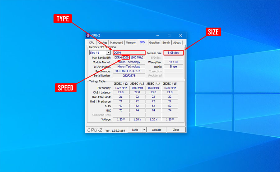 How to Check RAM Type, Size, and Speed in Windows 10